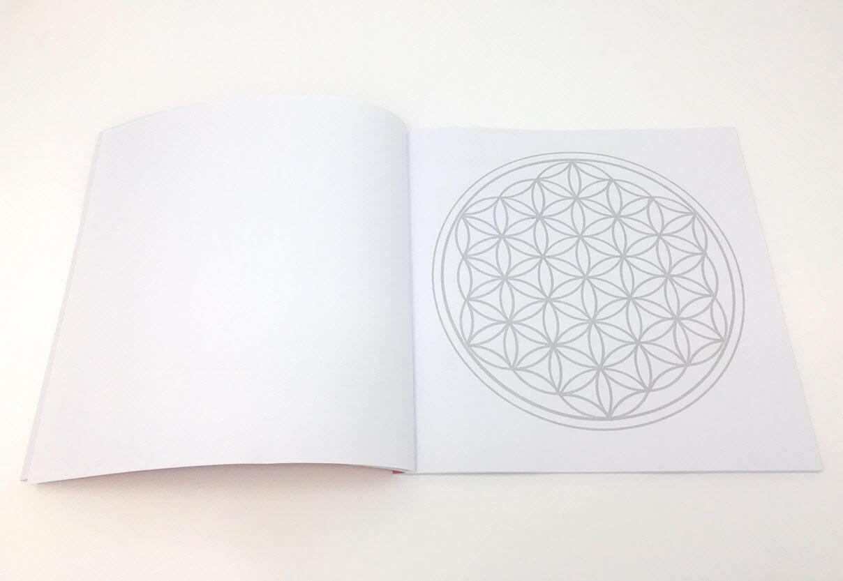 Mandala Ausmalbuch Blume des Lebens