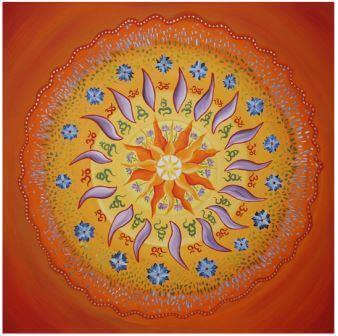Mandala malen Sonne